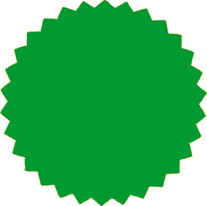 2 Inch Blank Embosser Seals - Green (300 Pack)