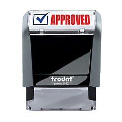 Trodat Printy 65% Recycled 4912 Self-Inking Message Stamp, Approved