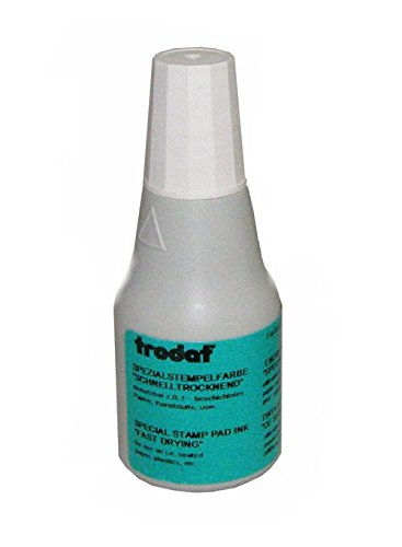 Trodat Quick Drying Ink, 2/3 oz. bottle, White