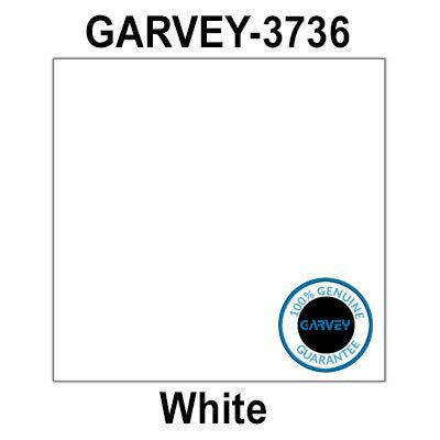 80,000 (2 Cases) GENUINE GARVEY 3736 White (37 x 36) SQUARE General Purpose Labels: 20 ink rollers - no security cuts