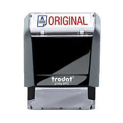 Trodat Printy 65% Recycled 4912 Self-Inking Message Stamp, Original