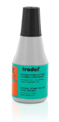 Trodat Quick Drying Ink, 2/3 oz. bottle, Black