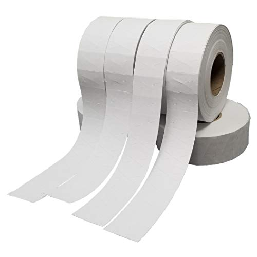 Contact Price Gun Replacement Labels - White Pricing Labels for Contact 5.22, 66.22, 77.22, 88.22 & 2216 Price Guns. 1-Sleeve Includes, 9-Rolls (9,000 Labels) and 1 Premium Ink Roller