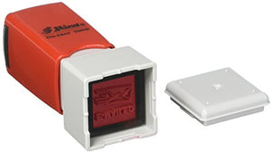 "Shiny ""E-Mailed"" Square Stock Stamp, Red (HS037)"