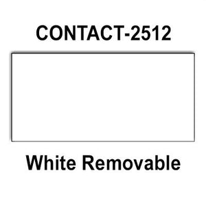200,000 Contact 2512 compatible White Removable Labels to fit the Contact 25-8, Contact 25-9 Price Guns. Full Case + includes 20 ink rollers.