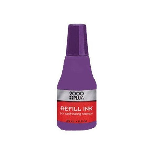 Cosco VIOLET, water based re-fill Ink for Cosco, Trodat, Ideal, Shiny self-inking stamps