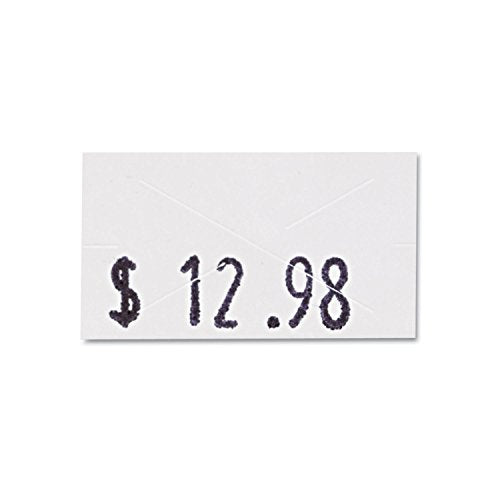 Garvey One-Line Pricemarker Labels, 7/16 x 13/16 Inches, White, 1200/Roll, 3 Rolls/Box (090944)