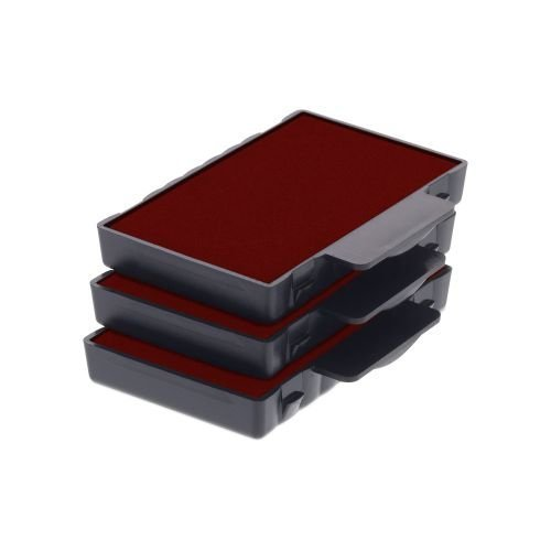 Trodat Replacement Ink Cartridge 6/53 - pack of 3 Color red