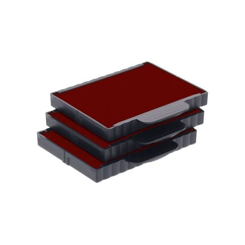 Trodat Replacement Ink Cartridge 6/57 - pack of 3 Color red