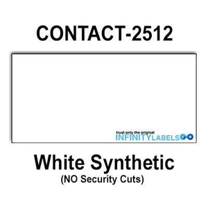 200,000 Contact 2512 Compatible White General Purpose Labels for Contact 25-8, Contact 25-9 Price Guns. Full Case + 20 Ink Rollers. NO Security cuts.