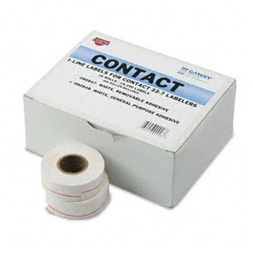 CONSOLIDATED STAMP 090948 One-line Pricemarker Labels 7/16 X 13/16 White 1200/roll 16 Rolls/box