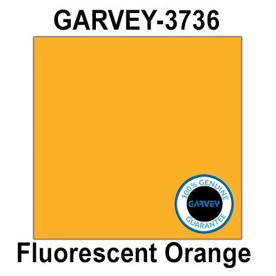 40,000 Genuine GARVEY 3736 Fluorescent Orange (37 x 36) Square General Purpose Labels: Full case - 10 Ink Rollers - no Security cuts