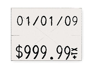 Pricing Label Kit, 2-Line, White, PK3