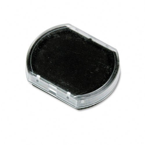 Cosco R12 Round Stamp Replacement Pad, Black Ink