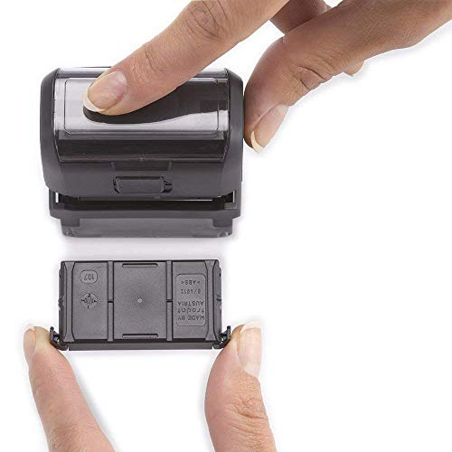 Trodat Economy Self-Inking Do It Yourself Message Stamp, Stamp Impression Size: 3/4 x 1-7/8 Inches, Black (5915)