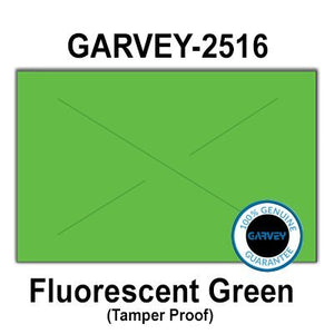 160,000 Genuine GARVEY 2516 Fluorescent Green General Purpose Labels: Full case - 20 Ink Rollers - Tamper Proof Security cuts