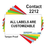 220,000 Contact 2212 (Special Packaging) Warm Red General Purpose Labels to fit the Contact 22-6, Contact 22-7, Contact 22-8 Price Guns. Full Case + includes 20 ink rollers.