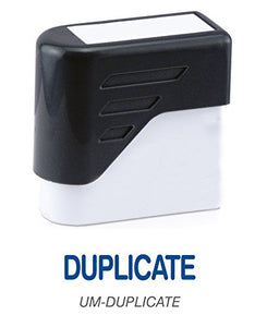 DUPLICATE - Ultimark Stock Message Pre-Inked Stamp