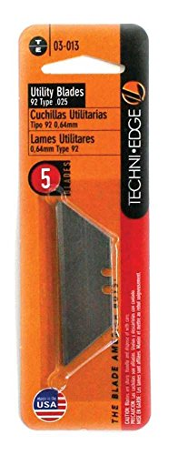 Techni Edge TE03-013 6 Pack 92 Type Utility Knife Blade, 5 Blades Per Card