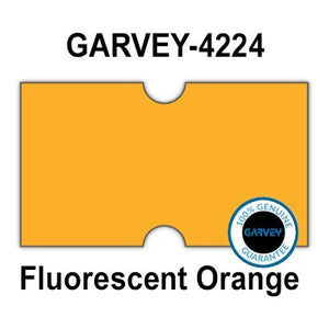 240,000 GENUINE GARVEY 2112 FL Orange General Purpose Labels: full case - no security cuts [compatible w/Motex MX-5500, Towa 1 Line, Jolly, Hallo, Freedom and Impressa 2112 Punch Hole (PH) Labelers]