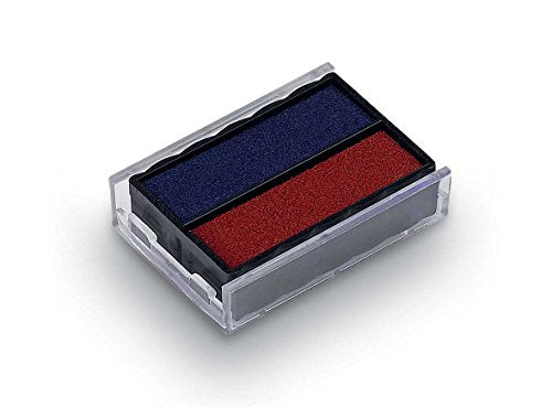 Rubber Stamp Creation Replacement Pad for Trodat 4850 Self Inking Stamp - Blue/Red Ink Color