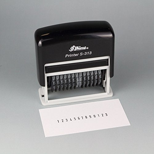 Shiny S-313 Self-Inking Number Stamp