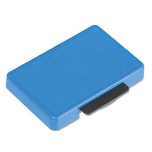 U. S. STAMP & SIGN T5440 Dater Replacement Ink Pad, 1 1/8 x 2, Blue (P5440BL)