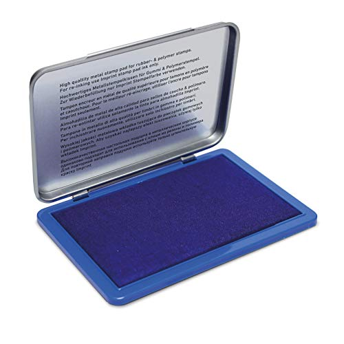 Trodat Imprint 9072M Metal Stamp Pad 11 x 7 cm Blue