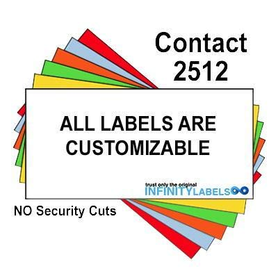 200,000 Contact 2512 Compatible Fluorescent Red General Purpose Labels for Contact 25-8, Contact 25-9 Price Guns. Full Case + 20 Ink Rollers. NO Security cuts.