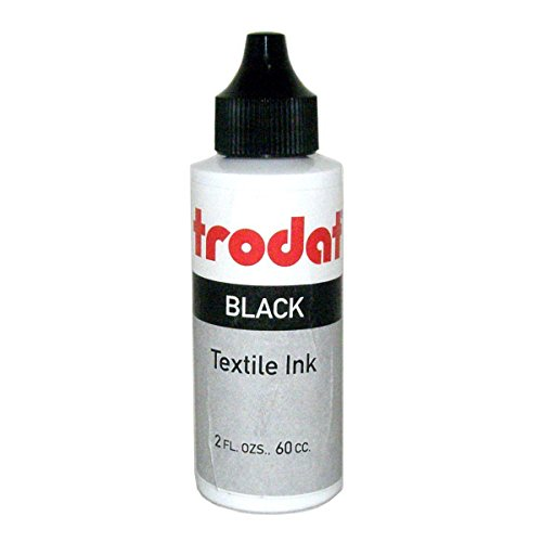Trodat Textile and Clothing Marker Ink, 60 cc (2 oz) bottle