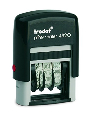 Trodat 4820 Self-Inking Dater with Red Ink