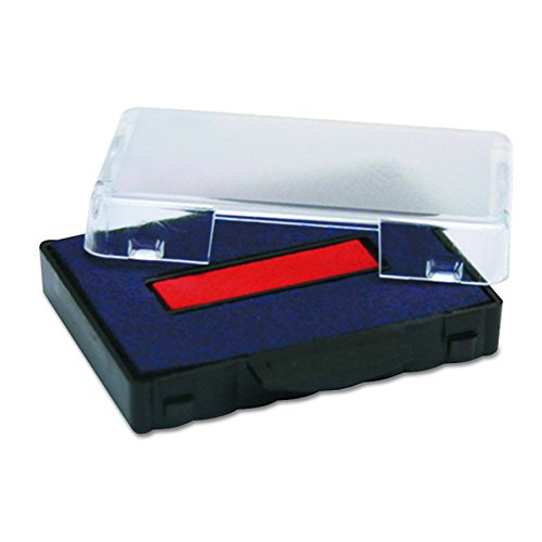U. S. Stamp & Sign T5440 Dater Replacement Ink Pad, 1.125 Inches Width x 2 Inches Depth, Red/Blue (P5440BR)