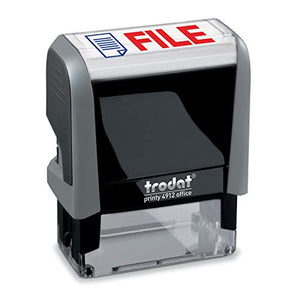 File Trodat Printy 4912 Self-Inking Two Color Stock Message Stamp