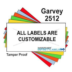 200,000 Garvey 2512 compatible Warm Red General Purpose Labels for G-Series 25-8. G-Series 25-9, G-Series 25-10 Price Guns. Full Case + 20 ink rollers. WITH Security Cuts.