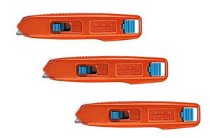 LOT: 3 Allway Tools Aluminum Safety Knives w/ 6 Blades Each - SRK-B6