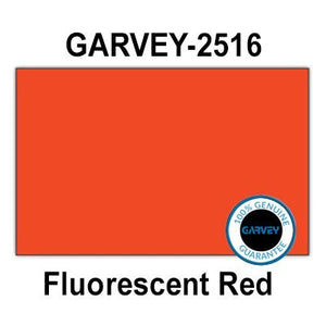 160,000 GENUINE GARVEY 2516 Fluorescent Red General Purpose Labels: full case - 20 ink rollers - no security cuts