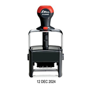 Heavy Duty Self-inking Date Stamp, Day-Month-Year (23 DEC 2024) European - Military Date Format (Black)