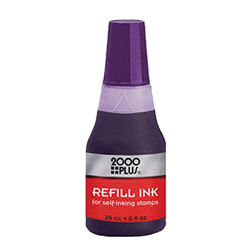 Cosco Self-inking Stamp Refill Ink, 25 cc (.9 .Oz.) Violet