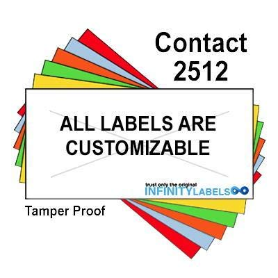 200,000 Contact 2512 compatible White General Purpose Labels for Contact 25-8, Contact 25-9 Price Guns. Full Case + 20 ink rollers. WITH Security Cuts.