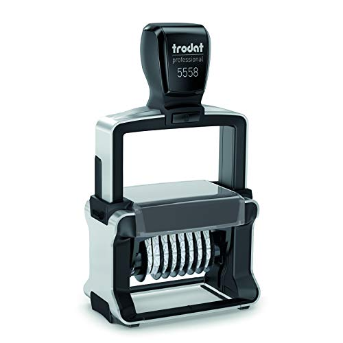 Trodat 8 Digit Self-Inking Numbering Stamp, 5mm Character Height 5mm