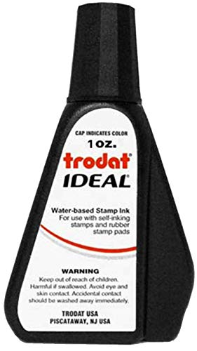 45173 Ideal Premium Replacement Ink for Use with Most Self Inking and Rubber Stamp Pads, 1oz, Black