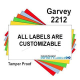 220,000 Garvey Compatible 2212 Fluorescent Chartreuse General Purpose Labels to fit the G-Series 22-6, G-Series 22-7, G-Series 22-8 Price Guns. Full Case + includes 20 ink rollers.