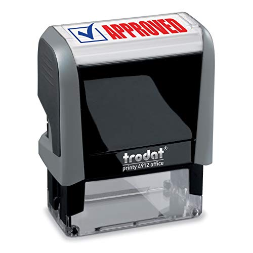 Approved Trodat Printy 4912 Self-Inking Two Color Stock Message Stamp