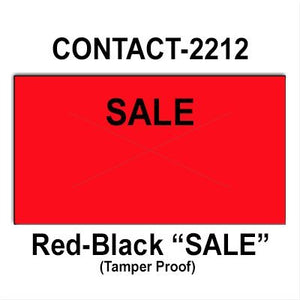 "220,000 Contact 2212 (Special Packaging) ""SALE"" Fluorescent Red General Purpose Labels to fit the Contact 22-6, Contact 22-7, Contact 22-8 Price Guns. Full Case + includes 20 ink rollers."