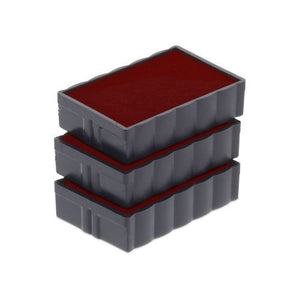 Trodat Replacement Ink Cartridge 6/4850 - Pack of 3 Color red