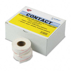 Garvey : Two-Line Pricemarker Labels, 5/8 x 13/16, White, 1000/Roll, 16 Rolls per Box -:- Sold as 2 Packs of - 16 - / - Total of 32 Each
