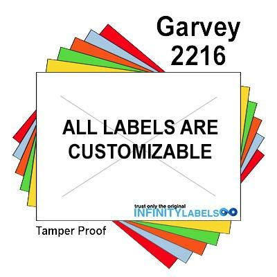 180,000 Garvey 2216 White General Purpose Labels to fit the G-Series 22-66, G-Series 22-77, G-Series 22-88 Price Guns. Full Case + includes 20 ink rollers.