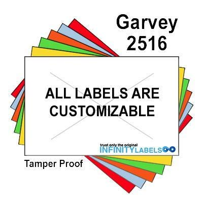 160,000 Garvey 2516 compatible White General Purpose Labels to fit the G-Series 25-88. G-Series 25-99, G-Series 25-5, G-Series 25-10/10 Price Guns. Full Case + includes 20 ink rollers.