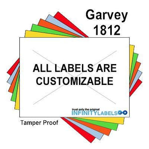 280,000 Garvey Compatible 1812 White General Purpose Labels to fit the G-Series 18-5, G-Series 18-6, G-Series18-7 Price Guns. Full Case + includes 20 ink rollers.