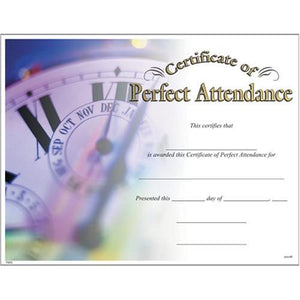 Award Certificates (10 Pack) - Perfect Attendance
